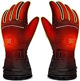 Z-YQL Electric Battery Heating Gloves adjustable temperature for Men/Women, Waterproof Warm Gloves