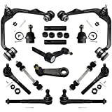 Detroit Axle - 2WD Front Upper Control Arm Ball Joint Tierod Sway Bar Pitman Idler Arm Replacement for Ford F-150 F-250 Expedition Lincoln Navigator - 14pc Set