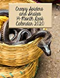 Creepy Spiders and Snakes 14-Month Desk Calendar 2020: Great Photos of Some of Nature s Creepiest Creations!