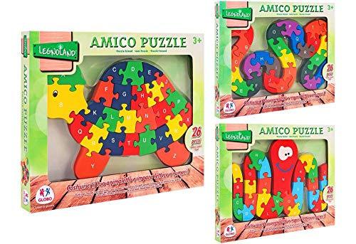 Globo Puzzle in Legno Amico, 26 Pezzi, 38261