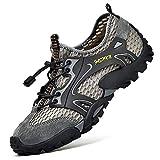 Zapatillas de Agua para Senderismo para Hombre Zapatillas New Balance Zapatos para Hombre de Secado rápido Malla Ligera Transpirable Zapatos Impermeables para Correr al Aire Libre (43 EU, Gris)