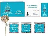 SMARTY BOX Regalo Caja Caramelos y Gominolas Arbol Navidad 2020, Surtido Chuches, Chucherías Sin Gluten,Caramelos Toffee y Masticables Frutas y gominolas Naturales Pectina Fabricado en España