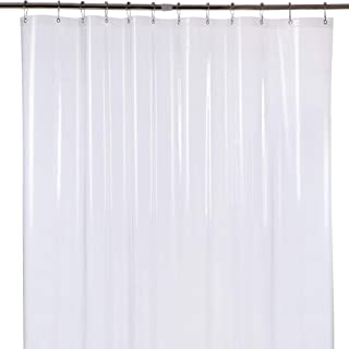 Amazer Shower Curtain Liner, 72 Inches W x 78 Inches H EVA 5G Bathroom Plastic Shower Curtain with 3 Magnets and 12 Rust-Resistant Grommet Holes Without Chemical Odor-Clear