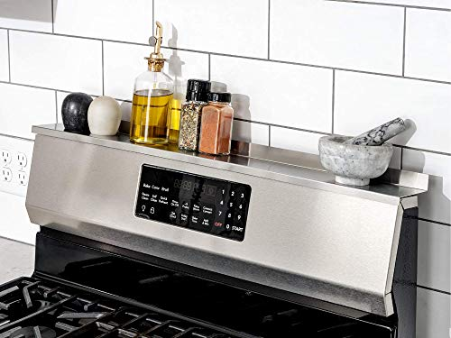 StoveShelf Magnetic Shelf for Kitchen Stove - Kitchen Storage Solution with Zero Installation - Stainless Steel - 30  Length