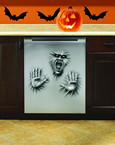Dishwasher Door Cover Ghost Scary Horror Face Hands Halloween Prop Decoration
