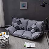 LJQLXJ Sofá Upholstery Adjustable Floor Sofa Bed Lounge Sofa Bed Floor Lazy Man Couch Living Room Furniture with 2 Pillow,5