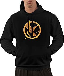 Hoodies for Men Casual Pullover Walk Fleece with The Hunger Games Printing