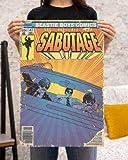 AZSTEEL Beastie Boys Comics Sabotage Poster | Poster No