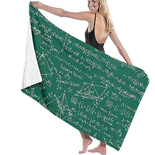 Profesor Fórmulas y Ecuaciones matemáticas BLYE Women 'S Men' S Toalla de baño Personalizada Altamente Absorbente Toalla de Playa Suave 30 'X60'