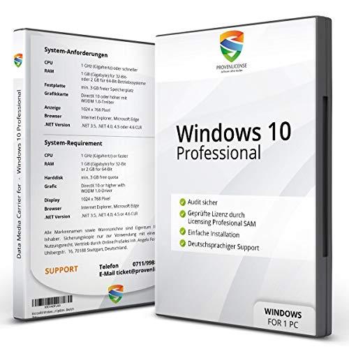 Windows 10 Pro Vollversion - ProvenLicense - 32/64bit - ISO DVD - Aktivierungsschlüssel und Installationsanleitung per E-Mail - NEU - KUNDENSUPPORT - Deutsch