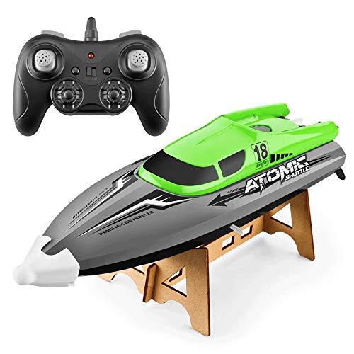 SSBH Barco de control remoto de alta velocidad de 2.4 GHz, enfriamiento refrigerado por agua, Restablecimiento de volcado, Juego de agua Coto rápido, Modelo de juguete para niños, Multi-velocidad, ala
