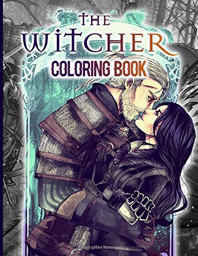 The Witcher Coloring Book: Nice The Witcher Coloring Books For Kids And Adults