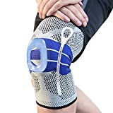 Knee Braces Compression Support Sleeve to Relief Pain from ACL, Arthritis Joint, Meniscus Tear, with Patella Gel Pads Protector and Side Spring Stabilizers- for Men and Women Running (Single)