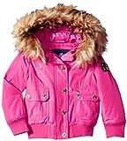 Rocawear Girls' Little Hooded Bomber Jacket, Fuchsia, 5/6