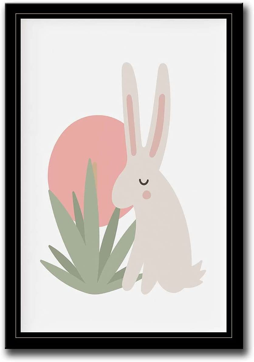 With Deluxe Frame Limited price sale Bunny Rabbit Print Nursery Nur