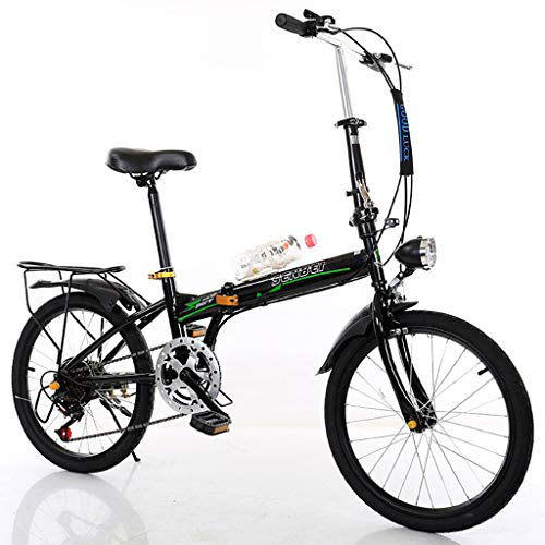 Folding Bike 20 Inch 6 Speed Student Folding Bicycle Fast Folding Bicycle Ultra Light Speed Portable Bicycle