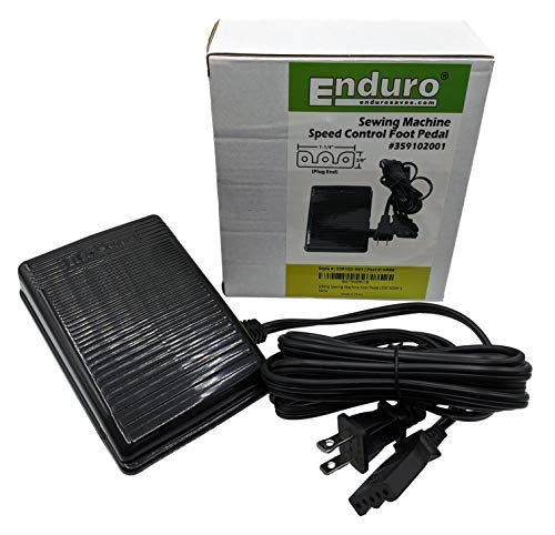 Singer Sewing Machine Foot Pedal Replacement by Enduro – Variable Speed Foot Operated Control Pedal for Singer Sewing Machines (359102001)