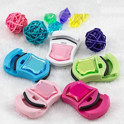 WYXJMJ Mini Brique en Plastique Portable avec Les Cils de beauté de l'appareil de Curling cil Outil (Size : Sky-Blue)