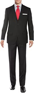 Men's Modern Two Button Sharkskin Suit