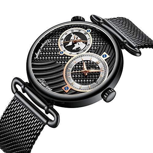 YCQ-Watch Hommes Montres Mode Acier Inoxydable Imperméable Quartz Analogique Montre d'affaires Chronographe Montre Pour Homme