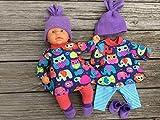 Puppenkleidung handmade Gr. 36-38 cm z.B. Winterset + Schuhe ' little Zoo ' Baby Puppe