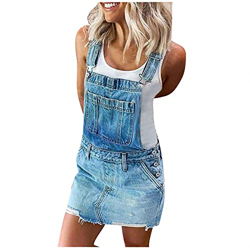 AMhomely Vestido de mujer Venta Liquidación Señoras Denim Jeans Suspender Falda Pinafore Slim Mini Vestido Corto Kaftan Fiesta Elegante Tamaño Reino Unido