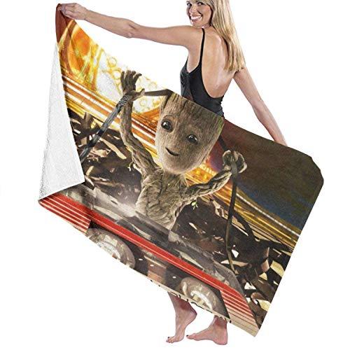 FSTGF Toalla de playa de algodón absorbente toallas de baño de secado rápido – Guar-dians of The Galaxy Groot