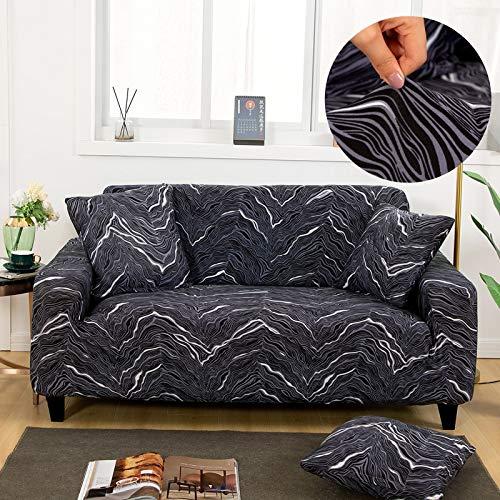 PPOS Bedruckte Sofaschutzbezüge Für Wohnzimmer Elastische Stretch Schonbezug Eckige Sofabezüge A6 3 Sitze 190-230cm-1pc
