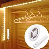 LUXJET® 30LED 1M tira luz cuerda,Luz Armario Luz LED Nocturna con Sensor de Movimiento para Pasillo Baño Armario Cocina(funciona...