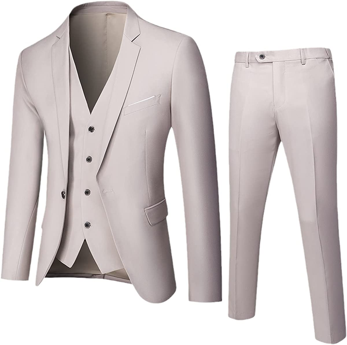 CACLSL Business Suit Jacket Trousers Vest Men's Wedding Three-Piece Trousers Vest Plus Size Professional Suit