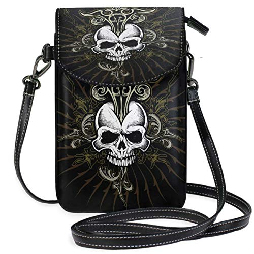 XCNGG Skull Cell Phone Purse Wallet for Women Girl Small Crossbody Purse Bags