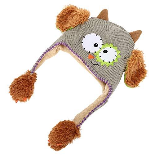 XINL Bonito Sombrero, Divertido Sombrero de Juguete Bonito e Interesante para niños Mayores de un año y Medio para decoración y Regalo para niños(Gris)