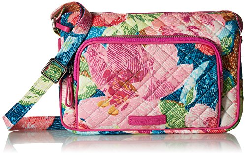 Vera Bradley womens With Protection Vera Bradley Women s Signature Cotton RFID Little Hipster Crossbody Purse Superbloom One Size, Superbloom, One Size US
