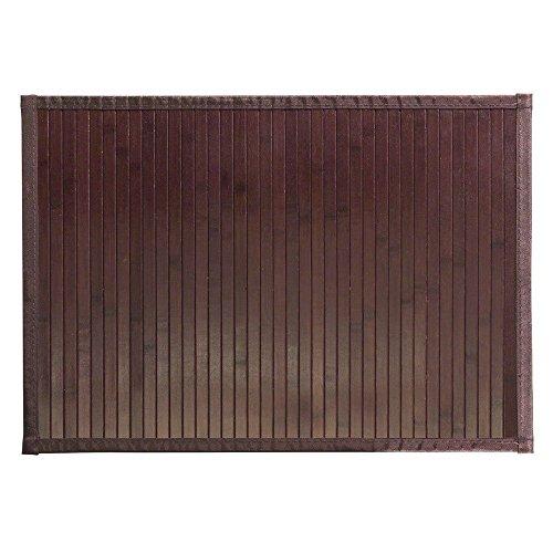 iDesign Tappeto bagno antiscivolo in bambù, Tappetino bagno impermeabile, Ampio tappeto antiscivolo perfetto per bagno, cucina, ingresso e corridoio, marrone scuro