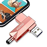 VOOTOO USB 3.0 Flash Drive 512GB Memory Stick, USB 3.0 External Storage Thumb Drive Photo Stick Compatible with iPhone, Android and Computers (Rose Gold)