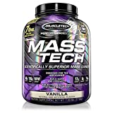 Mass Gainer Whey Protein Powder + Creatine | MuscleTech Mass-Tech Elite | Muscle Builder Whey Protein Powder | Max-Protein Weight Gainer for Men & Women | Vanilla, 7 lbs (packaging may vary)