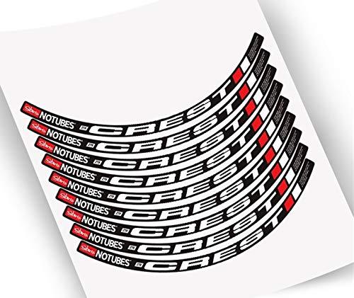Pegatinas de Borde de la Rueda de la Bicicleta de montaña MTB Bike Rims Wheel Decals para Las Etiquetas engomadas de Dos Ruedas Pegatinas para Moto (Color : 26er Yellow White)