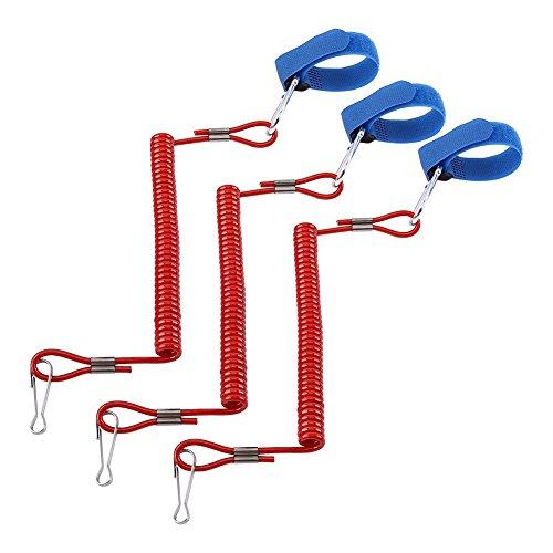 El diseño en espiral le protege de caerse del tablero. Cuando limpie hacia fuera, la correa flexible se puede extender fácilmente a los 46cm máximos Le permite liberar ambas manos cuando sea necesario sin la posibilidad de perder una paleta Mantenga ...