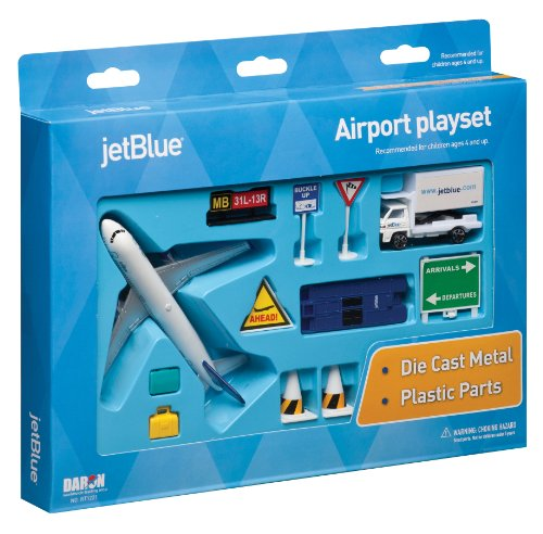 JetBlue Die-Cast Airport Playset (11 Pieces in set)
