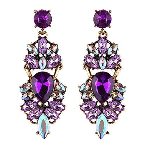 CHENLING Pendientes colgantes de cristal de lujo para las mujeres 2020 moda joyería gótica accesorios multicolor moda gota pendientes