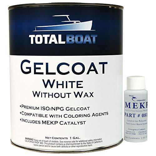 TotalBoat Marine Gelcoat for Boat Building, Repair and Composite Coatings (White, Quart...