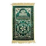Zhhlinyuan Alfombra de Oración Islámica Turca Alfombra de Peregrinación - Terciopelo Musulmán Rezando Alfombra janamaz Ramadán Regalos Muslim Prayer Mat