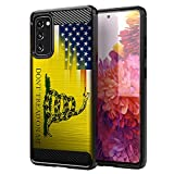 CasesOnDeck Case Compatible with Samsung Galaxy S20 FE (2020) / S20 FE 5G - Soft Fitted Flexible TPU Cover Shock Protection (Dont Tread On Me)