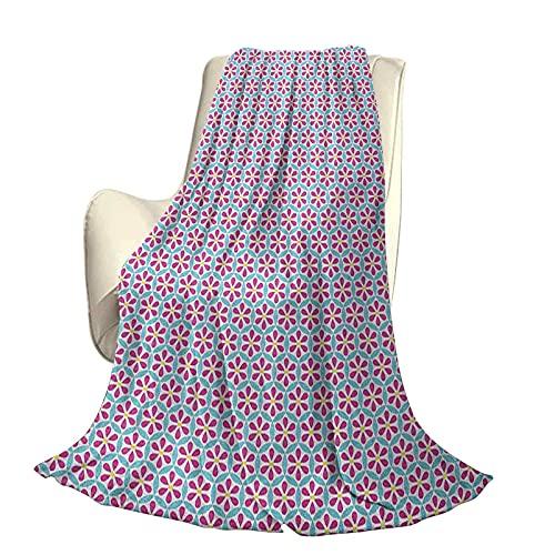 Flor Moderno y Elegante Colcha para Todas Las Estaciones, diseño de pétalos de futón con patrón de círculos superpuestos sobre Fondo Abstracto Cuatro Estaciones, Sala de Estar / Dormitorio,
