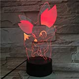 Cartoon Pokemon Go Dragonite Figure LED Nightlight Decorazione cameretta per bambini Lampada per camera da letto