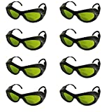 Laser Protection Glasses BP-6006 OD5+ CE UV400 200nm-2000nm IPL Protection Goggles Safety Glasses (Pack of 8)