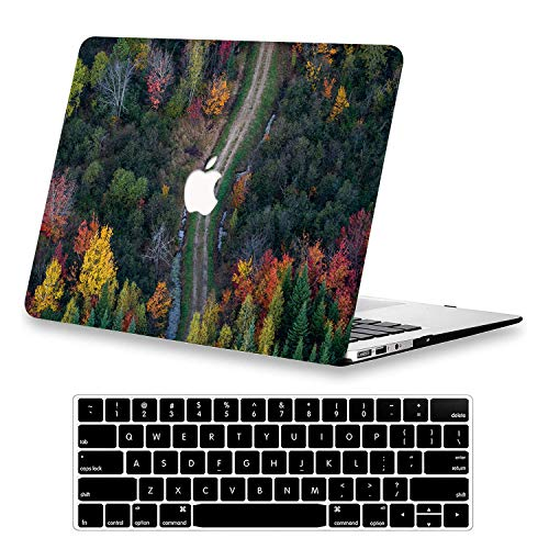 KEROM MacBook Pro 13 inch Case 2020 2019 2018 2017 2016 Release A2338 M1/A2289/A2251/A2159/A1989/A1706/A1708, Plastic Hard Protective Case&Keyboard Cover for 13 inch MacBook Pro with Touch Bar, Road