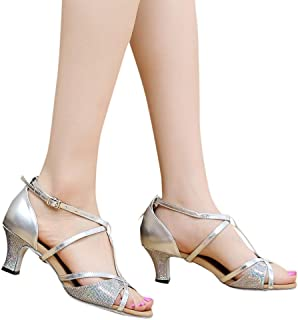 f4c03ddff6e Weaving   Spinning Womens Transparent Sandals Ankle High Heels Buckle Block  Party Open Toe Shoes ASERTYL ...