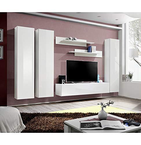 ASM Banc TV - 6 éléments - Blanc