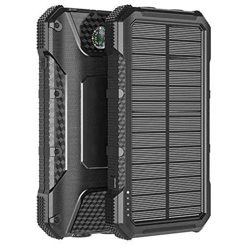 4smarts Solar Powerbank Rugged TitanPack SLIM 20.000 mAh zwart